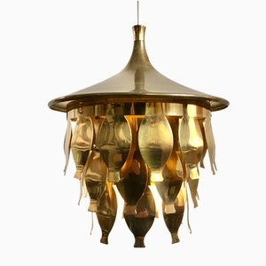 Brass Hanging Lamp, Sweden, 1960s