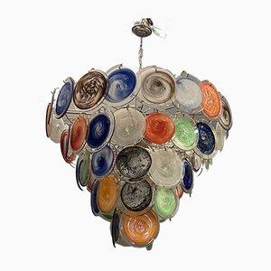 Murano Glas Scheiben Kronleuchter von Gino Vistosi für Murano, 1970er