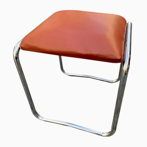 Bauhaus Tubular Steel Stool, 1940s