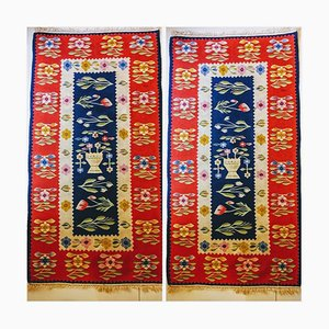 Art Deco Wool Kilim Carpet, 1930s, Set of 2