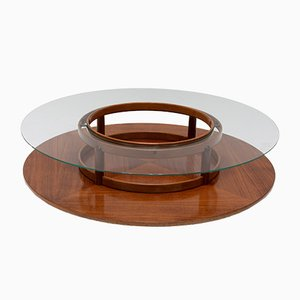 Mid-Century Rosewood Coffee Table by Gianfranco Frattini for Cassina