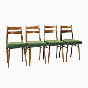 Oak and Fabric Dining Chairs from Interier Praha, Czechoslovakia, 1966, Set of 4