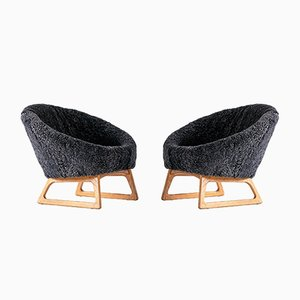 57A Lounge Chairs by Kurt Østervig for Rolschau Møbler, 1958, Set of 2