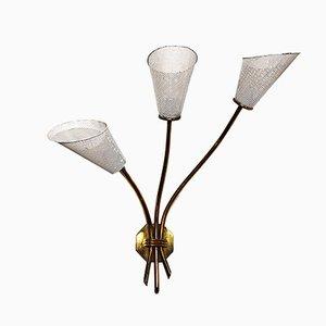 Aplique de tres luces, años 60