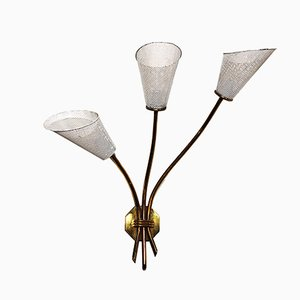 Three Light Wall Sconce, 1960s