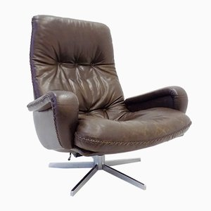 Dark Brown Leather Lounge Chair from de Sede, 1960s