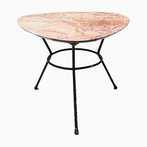Table Basse en Marbre Orange, Italie, 1960s