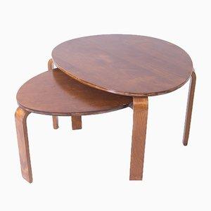 Tables Basses Attribuées à Alvar Aalto, 1950s, Set de 2