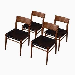 Sedie da pranzo di Georg Leowald per Wilkhahn, anni '50, set di 4