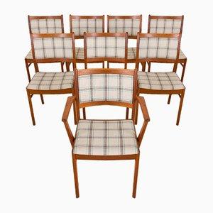 Chaises de Salle à Manger en Teck par Johannes Andersen, Danemark, 1960s, Set de 8