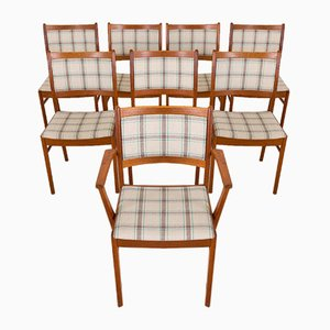 Danish Teak Dining Chairs by Johannes Andersen, 1960s, Set of 8