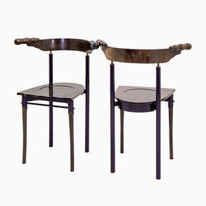 Jansky Chairs von Bořek Šípek für Driade, 1980er Jahre, 2er-Set