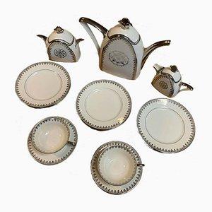 Art Deco Porcelain Coffee Service, 1920s, Set of 13