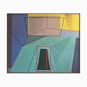 M.A.H. Reijner, ein Traum bewegte mein Grab und ohne Flügel, 1973, Öl auf Leinwand