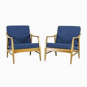 Cherrywood Lounge Chairs, 1960s, Set of 2