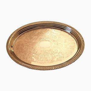 Vintage Silbertablett von Scandia Present