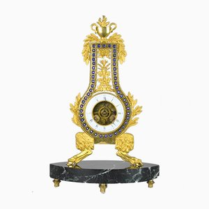 Gilded and Enamelled Bronze Clock