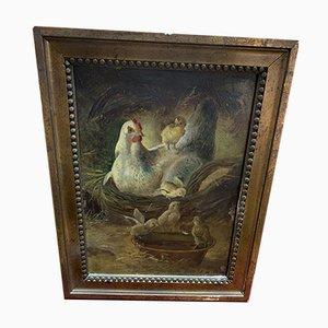 Gemälde auf Holz von Adel Del Villar