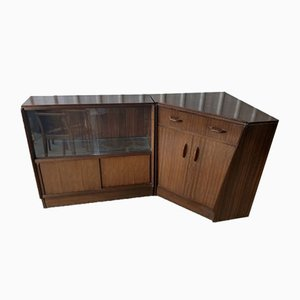 Mid-Century Brandon Bookcase & Secretaire Bureau Cabinet from G-Plan, Set of 2