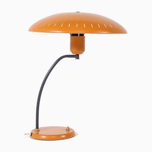 Lampada da scrivania arancione di Louis C. Kalff per Philips, anni '50