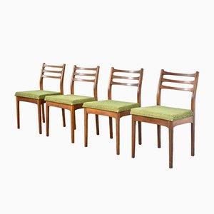 Chaises de Salle à Manger Vintage en Teck de Meredew, 1960s, Set de 4