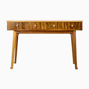 Walnut and Birch Console Table from Heal's, 1960s