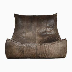 The Rock Leather Sofa by Gerard van den Berg for Montis, 1970s