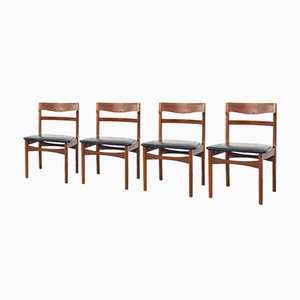 Nathan Teak and Leatherette Chairs from Nathan, 1960s, Set of 4