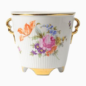 Vintage Porcelain Flower Pot from Freiberger Porzellan, 1960s