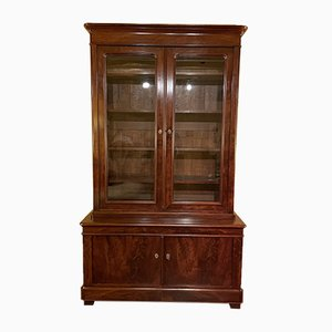 Antique Mahogany Bookcase, France