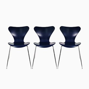 Esszimmerstühle von Arne Jacobsen für Fritz Hansen, 1990er Jahre, 3er-Set