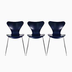 Sedie da pranzo di Arne Jacobsen per Fritz Hansen, anni '90, set di 3
