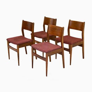 Chaises de Salon en Teck, 1960s, Set de 4