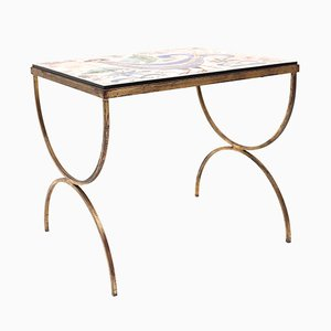 Tile Table with Mythical Bird Scene, 1960s