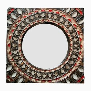 Vintage Round Mirror, France