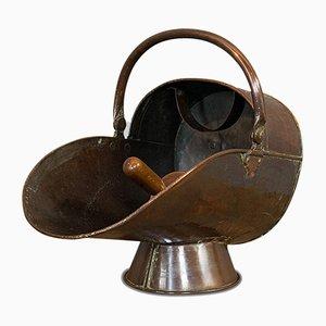 Antique Helmet Coal Scuttle