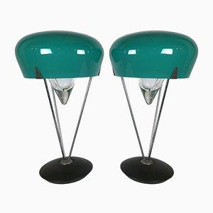 Murano Glas Tischlampen von De Majo, 1970er, 2er Set