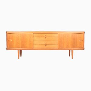 Scandinavian Low Sideboard in Oak by H. W. Klein for Bramin, 1960s