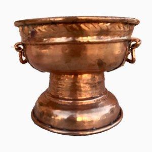 Vintage Copper Flower Pot