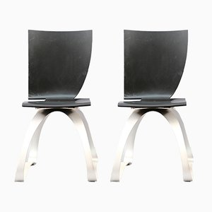 Asymetrical Chairs from Wilde + Spieth, Set of 2