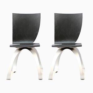 Asymmetrische Stühle von Wilde + Spieth, 2er Set