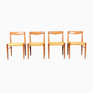 Vintage Teak Dining Chairs by H. W. Klein for Bramin, Set of 4