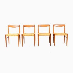 Vintage Teak Esszimmerstühle von HW Klein für Bramin, 4er Set