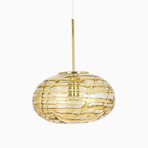 Murano Ball Pendant Light from Doria Leuchten, Germany, 1970s