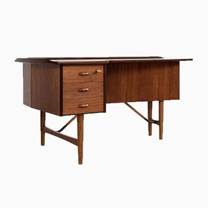 Mid-Century Boomerang Desk in Teak and Oak by Peter Løvig Nielsen 1950s