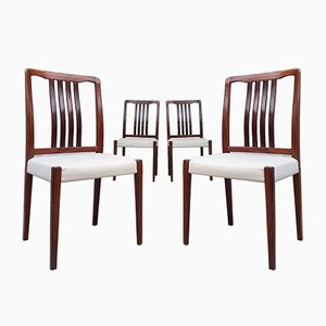 Mid-Century Swedish Rosewood Dining Chairs from Troeds, Set of 4