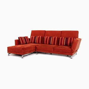 Moule Alcantara Red Fabric Corner Sofa from Brühl & Sippold