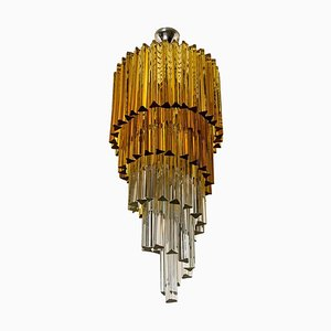Spiral Murano Glass Chandelier from Venini