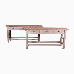 Tables de service anglaises, ensemble de 2
