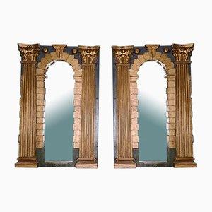 Italienische Architektonische Spiegel, 2er Set